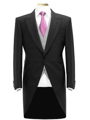 £99.99 • Buy Mens New Wool Blend Black Tailcoat Wedding Ascot Morning Suit Dress Tails Jacket