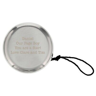 £6.95 • Buy Personalised Silver Finished YoYo - Engraved For Free - Page Boy, Baptism, Baby