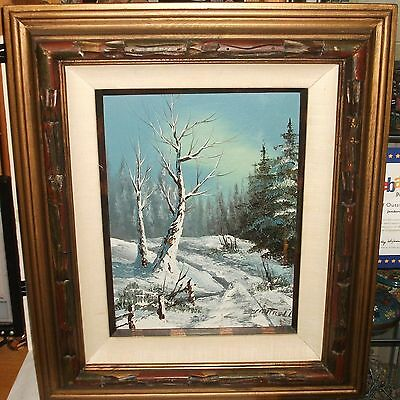 $ CDN362.85 • Buy Cantrell Original Oil On Canvas Winter Snow Landscape Painting