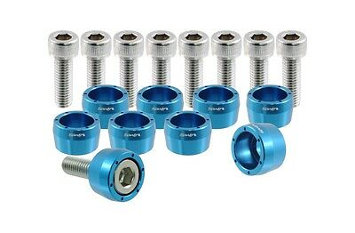 $29.95 • Buy Vms Racing Blue 8mm 8 Mm Header Cup Bolt Washer Kit For Honda Acura Jdm Bolts