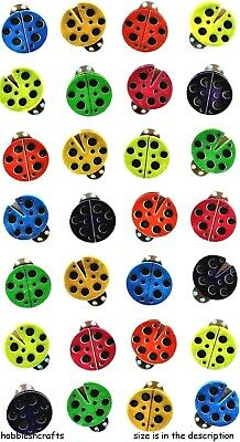 RAINBOW LADYBUGS Stickers Metallic 3-D Stickers - Ladybirds Bugs Insects • 1.15£