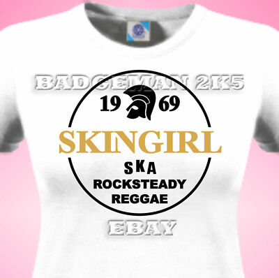 SKINGIRL Skinhead SKA - ROCKSTEADY-SPIRIT Of 69 - Ladies Fitted T-Shirt • 10.95£