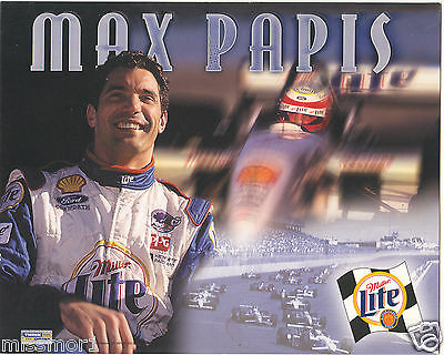 $7 • Buy Max Papis 2000 Miller Lite Ford Racing Promotional Picture Signature Card