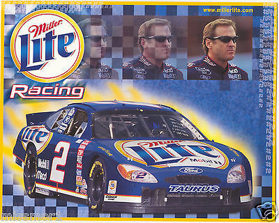 $7 • Buy Rusty Wallace 2002 Miller Lite Racing Promotional Picture Signature Card Ford #2