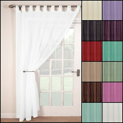 A Single Voile Tab Top Net Curtain Panel | Multiple Colours & Sizes | Free P&p • 5.70£
