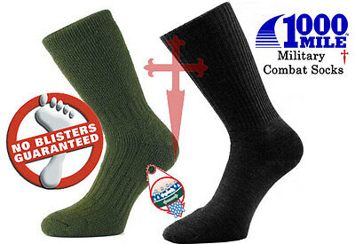 1000 Mile Worlds Best Military / Combat Socks All Sizes - Blister Free Guarantee • 9.50£