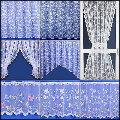£2.30 • Buy Butterfly Selection - Net Curtain, Cafe Net, Jardinieres And Net Sets