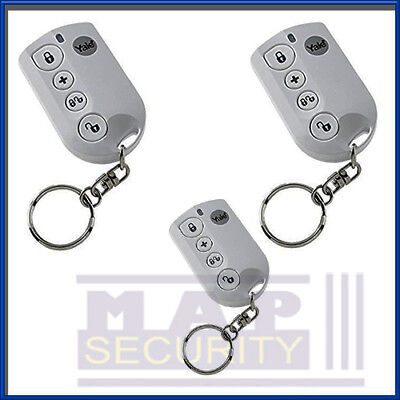 3x YALE EASY / SMART FIT ALARM REMOTE KEYFOBS - NEXT DAY DELIVERY EF-KF SR-KF • 74.99£
