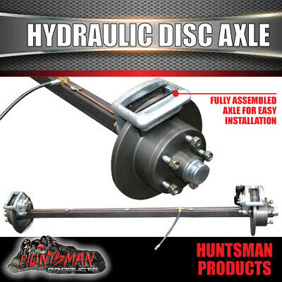 AU420 • Buy Hydraulic Disc Braked Trailer Axle 40mm Square. 1000kg Rated. Camper Caravan