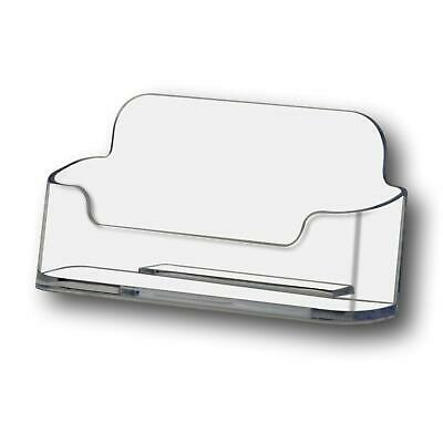 5 Acrylic Desktop Business Card Display Counter Dispenser Holder Stands • 6£