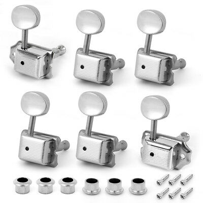 $ CDN17.01 • Buy Guitar Vintage Tuning Pegs Tuners For Fender Stratocaster Telecaster 6R Chrome