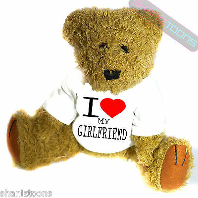 I Love My Girlfriend Novelty Gift Teddy Bear • 14.32£