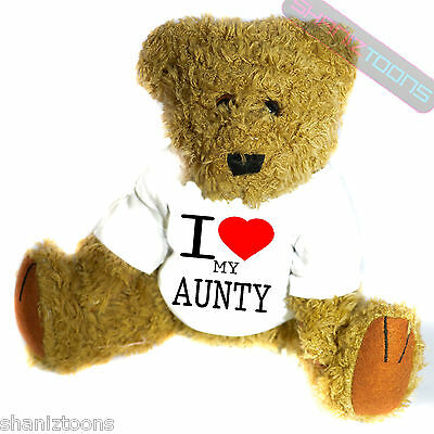 I Love My Aunty Novelty Gift Teddy Bear • 14.32£