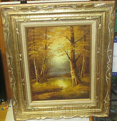 $ CDN272.15 • Buy Cantrell Original Oil On Canvas River Creek Landscape Painting
