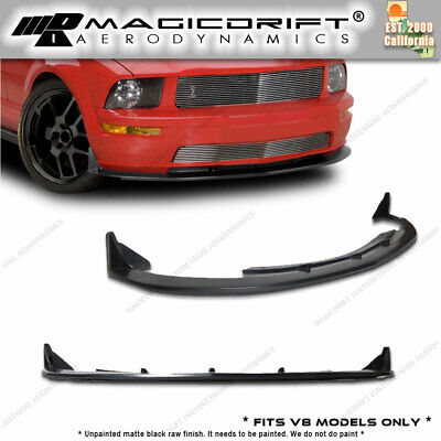 $122.88 • Buy For FORD MUSTANG V8 CV3 CV URETHANE FRONT BUMPER LIP CHIN SPOILER 05 06 07 08 09