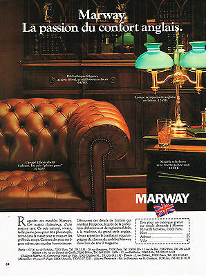$ CDN4.35 • Buy PUBLICITE ADVERTISING  1980    MARWAY   Mobilier Anglais