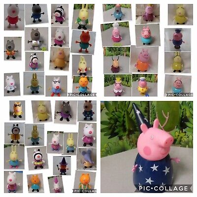 Peppa Pig Figures Emily Zoe Mummy Daddy King Queen Cook Dressing Up • 3.49£