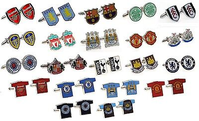 £12.99 • Buy OFFICIAL FOOTBALL CLUB - CUFFLINKS - Crest & Shirt Shaped (Free UK Delivery)