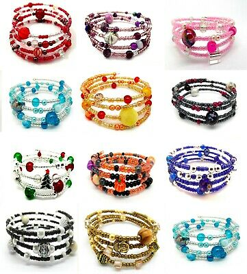 Memory Wire Bracelet Jewellery Making Kits BUY 3 GET 1 FREE (Add 4 To Basket) • 2.69£