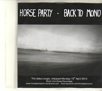 £2.99 • Buy (DT303) Horse Party, Back To Mono - 2013 DJ CD