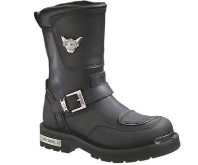 $ CDN200.67 • Buy Harley-Davidson Men's Shift Engineer Zip Black 9-Inch Motorcycle Boots, D95115