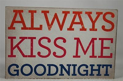 £6.13 • Buy Wooden Word Block 'Always Kiss Me Goodnight' By About Face Designs Hang/Set NEW!