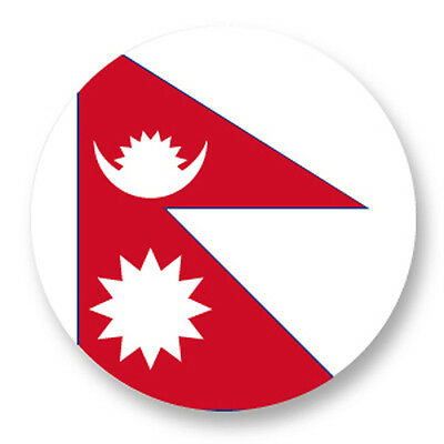 Pin Button Badge Ø38mm Drapeau Flag Echarpe Maillot Nepal NP Katmandou • 1.28£