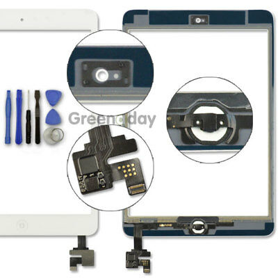 £7.89 • Buy Touch Glass Lens Digitizer Screen Replacement For White IPad Mini 1/2 +IC Button