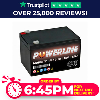 £22.75 • Buy Single Powerline Strident 12V 12Ah 20HR Rechargeable Battery NEXT DAY Delivery*