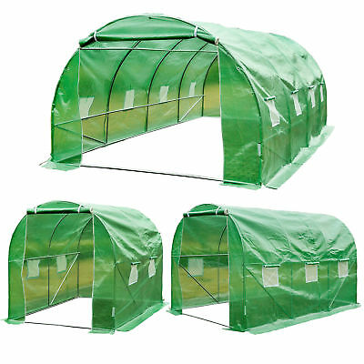 Walk-in Poly Tunnel Green House Galvanized Frame Outdoor Garden Planting Shed • 59.99£