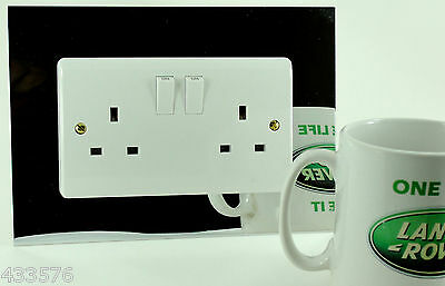 £5.54 • Buy Coloured DOUBLE / Twin Plug Socket & Light Switch Finger Plate Surrounds