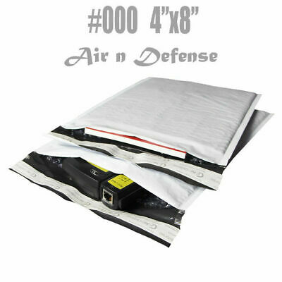 $70.08 • Buy 1000 #000 4x8 Poly Bubble Padded Envelopes Mailers Shipping Bags AirnDefense