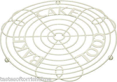 Kitchen Craft Cream Wire Cake Stand Cooling Rack Stand & Holder • 12.95£