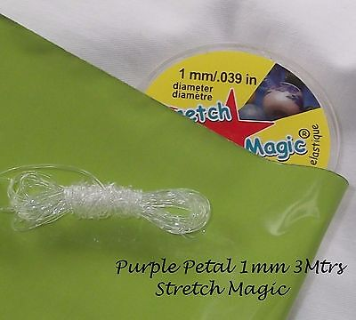 $ CDN5.07 • Buy Jewellery Design Project - Stretch Magic  Beading Elastic Cord  1mm Clear 3 Mtrs