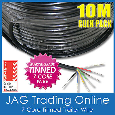 AU60.58 • Buy 10M X 7-CORE MARINE GRADE TINNED TRAILER WIRE-BOAT/AUTO/CARAVAN ELECTRICAL CABLE