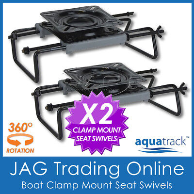 $ CDN107.77 • Buy 2 X CLAMP-ON BOAT SEAT SWIVEL ADJUSTABLE MOUNT BASE For Tinny/Tinnie Bench Seats