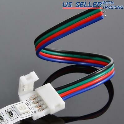 $4.95 • Buy 10-pack 10mm Solderless 4-Wire Connector Clip For 5050 RGB LED Strip Light Power