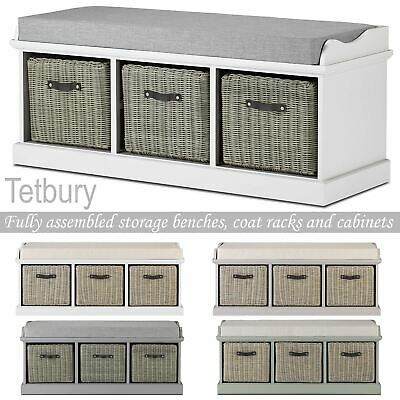 Tetbury Large Storage Bench With Extra Strong Baskets.Hallway Bench With Seat • 199.99£