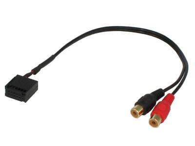 Ford Focus 6000cd Aux In Input Adapter Cable Lead Radio Ipod Mp3 Phono Rca Gold • 7.75£