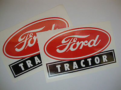 AU7.22 • Buy 2 X Ford Tractor  Vinyl Stickers Farm Implements Tractor Agriculture  Farming