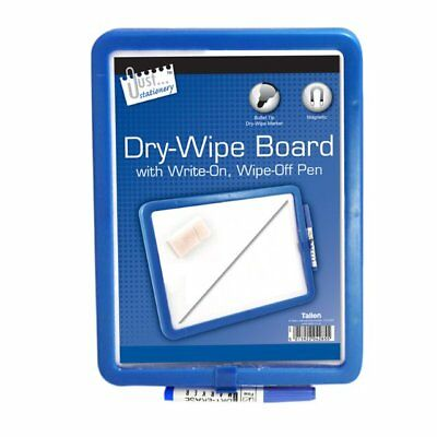 A4 Magnetic Dry Wipe White Note Board Kitchen Fridge Memo + Pen Various Colours • 2.49£