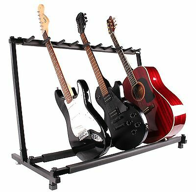 $ CDN100.07 • Buy Guitar Stand 9 Holder Guitar Folding Stand Rack Band Stage Bass Acoustic Guitar