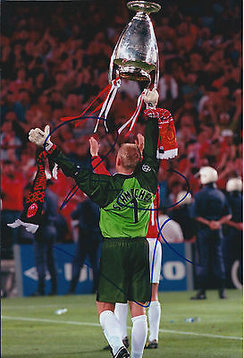 Peter SCHMEICHEL SIGNED Autograph Manchester United Photo AFTAL COA Genuine • 99.99£