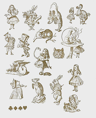 Alice In Wonderland - Cling Foam Back Rubber Stamps • 3.20£