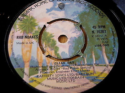 Rab Noakes - Clear Day   7  Vinyl • 5.49£