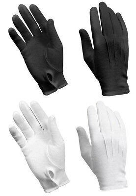 $9.99 • Buy Military Style Parade Gloves Black Or White Metal Snap On Wrist Rothco 4410