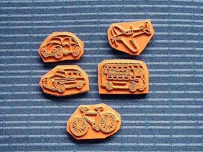 Transport Themed Rubber Stamps - Backed With Cling Foam • 2.75£
