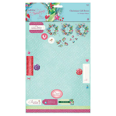 Lucy Cromwell At Christmas Die-Cut Favour + Gift Box X6 (Docrafts Craft Set) • 2.05£