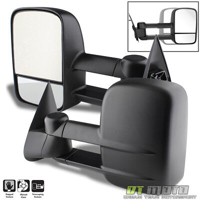$68.99 • Buy LH+RH 1999-07 Silverado/GMC Sierra Extend Towing Telescoping Side Mirrors Manual