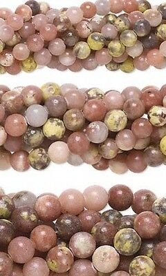$3.99 • Buy 50 Genuine Round Pink Lepidolite Natural Gemstone Stone Beads Small - Big